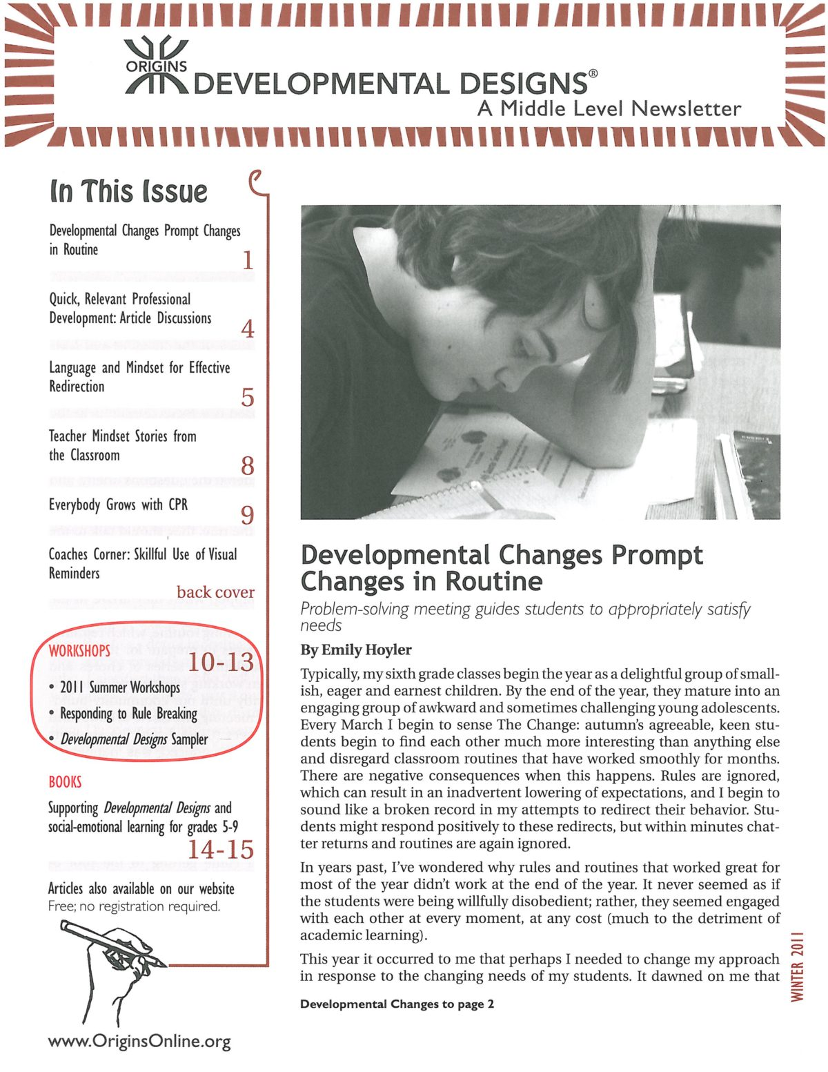 Developmental Designs Newsletter, Winter 2011