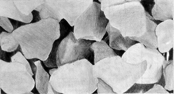 Student drawing of rocks