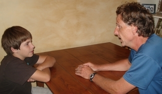 Scott with student